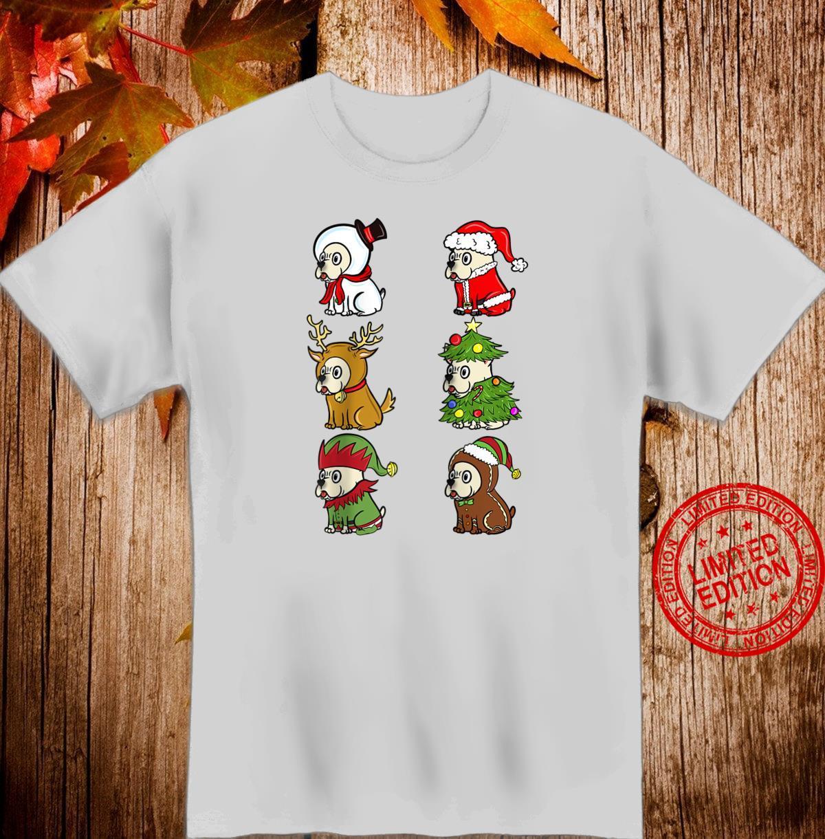 Cream French Bulldog Xmas Costumes Dog Christmas Shirt