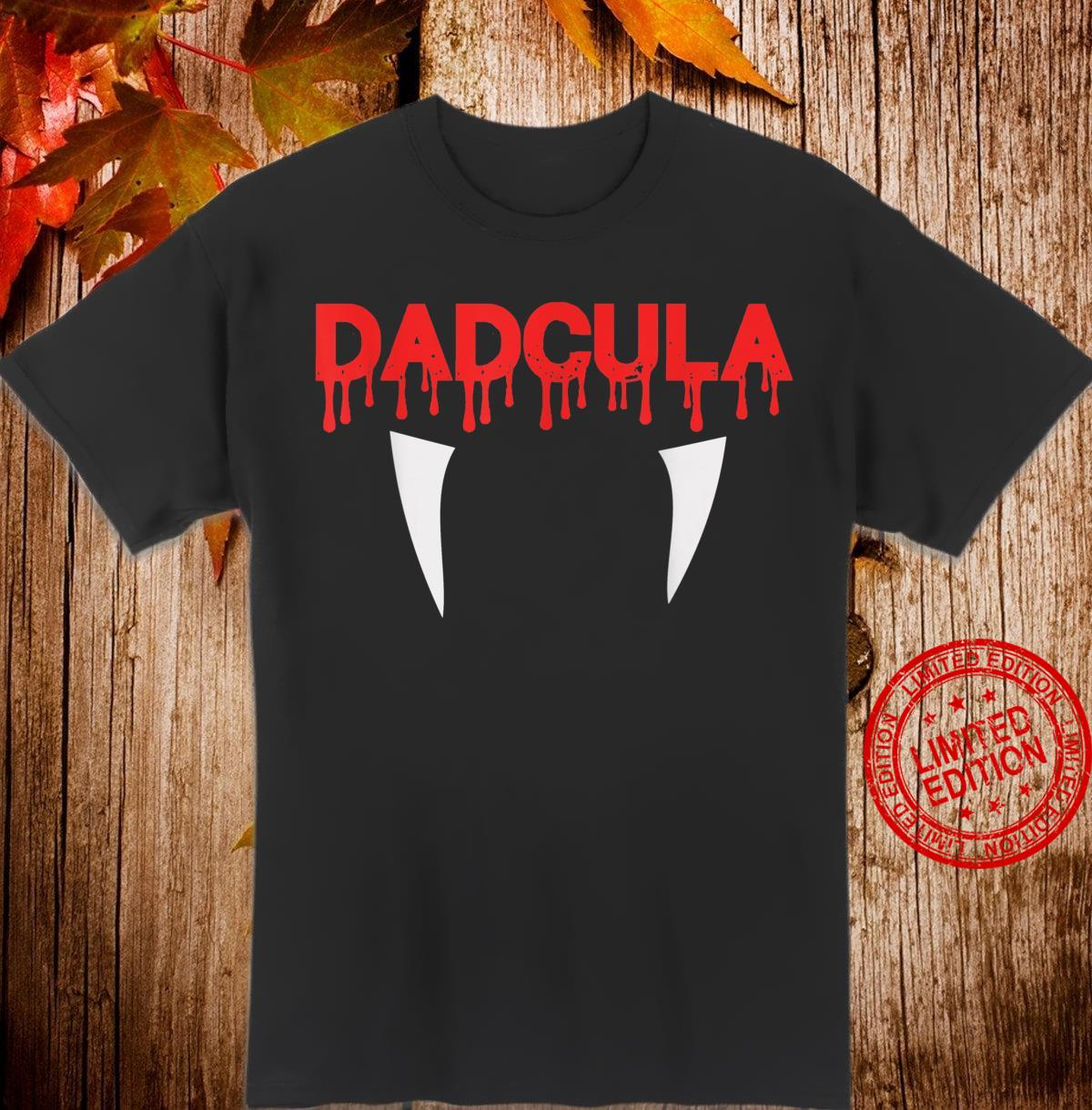 DADCULA Halloween Spooky Father and Dads Vampire Shirt