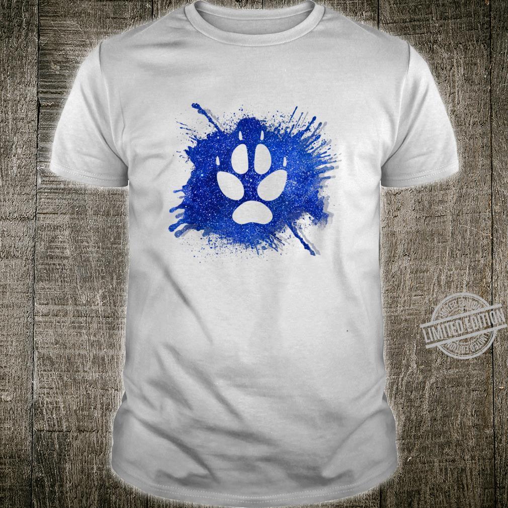 Dog paw footprint space design idea Shirt