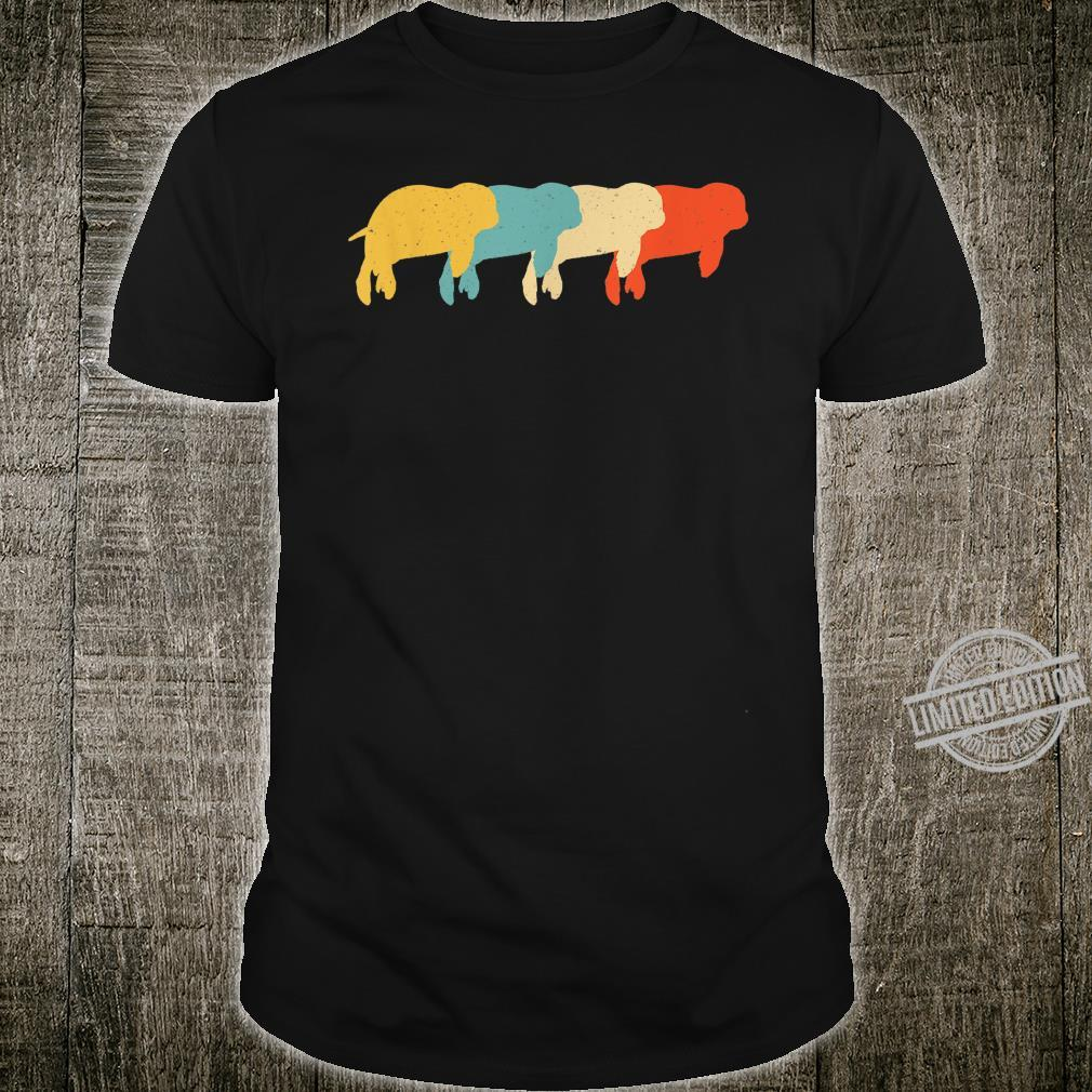 Dugong Vintage Retro Manatee Animal 60s 70s Shirt