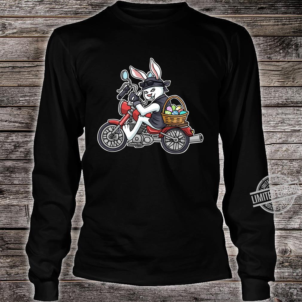 Easter Bunny Motorcycle Biker Apparel Braap Shirt long sleeved