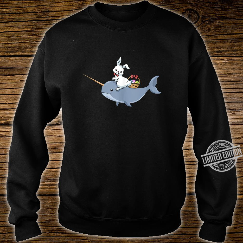 Easter Bunny Rabbit Egg Hunt Happy Easter Narwhal Shirt sweater