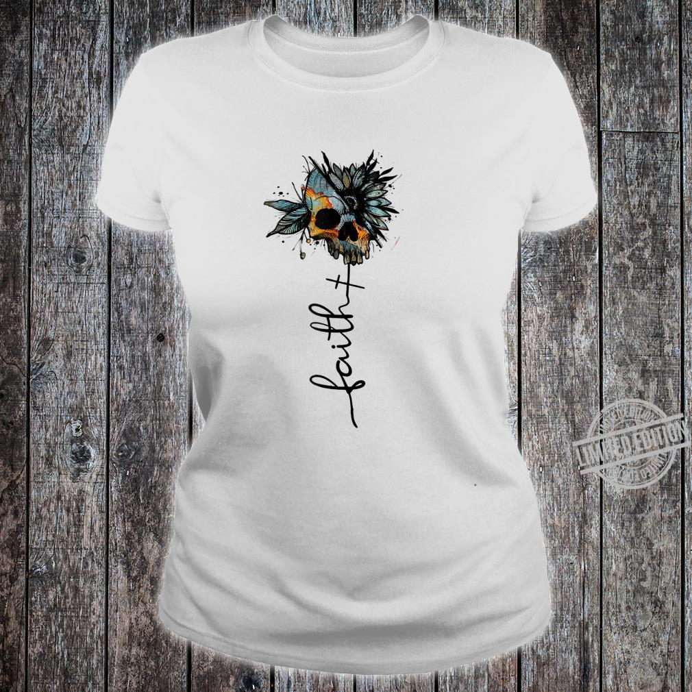 Faith Love Skull Skulls Skull Shirt ladies tee