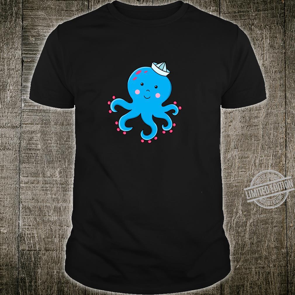 Fröhlicher Oktopus Langarmshirt Shirt