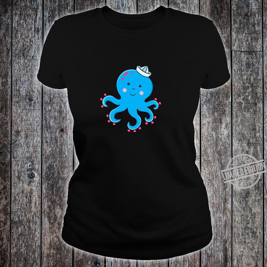 Fröhlicher Oktopus Langarmshirt Shirt ladies tee