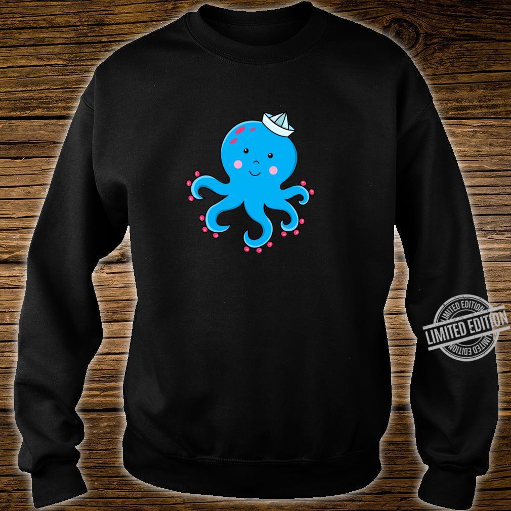 Fröhlicher Oktopus Langarmshirt Shirt sweater
