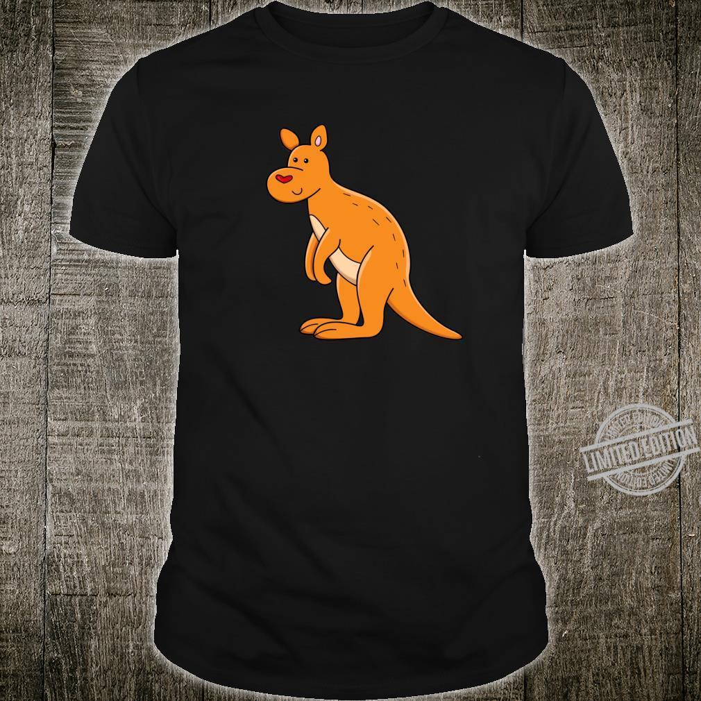Fröhliches Känguru mit Herz Shirt