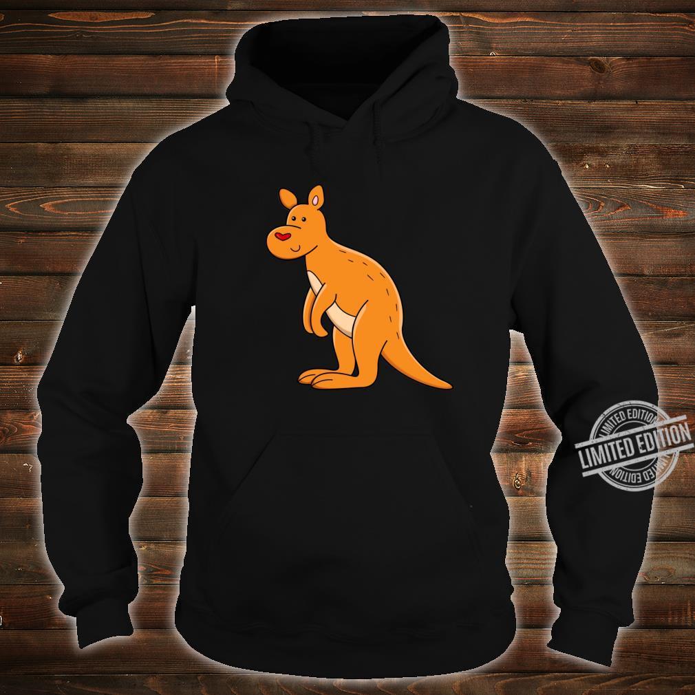 Fröhliches Känguru mit Herz Shirt hoodie