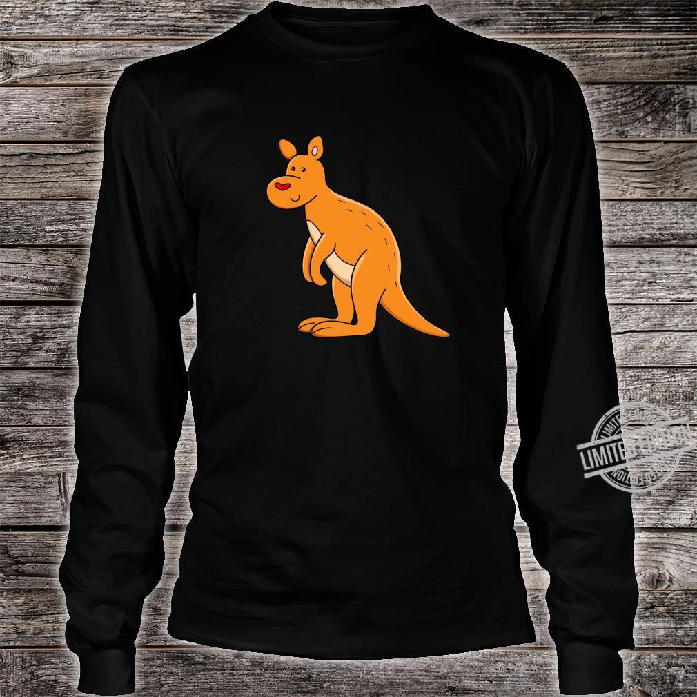 Fröhliches Känguru mit Herz Shirt long sleeved