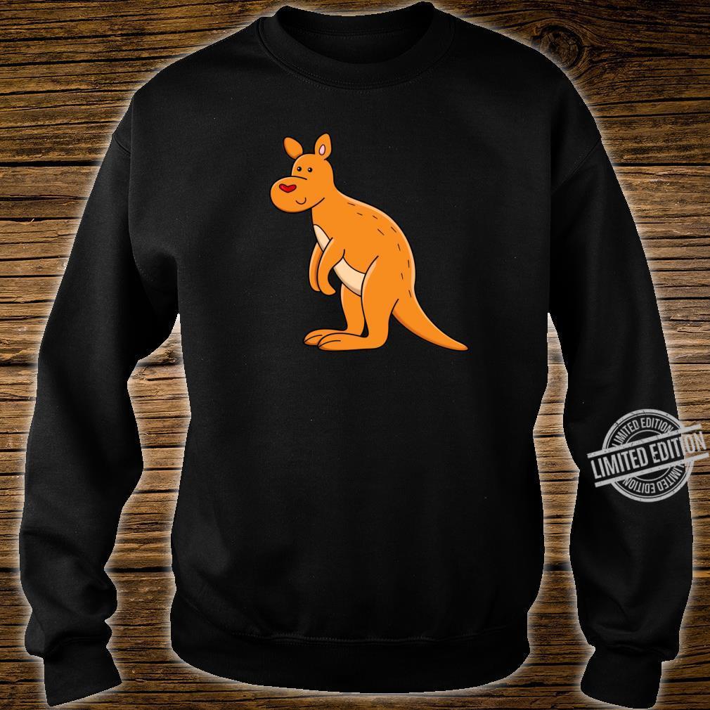 Fröhliches Känguru mit Herz Shirt sweater