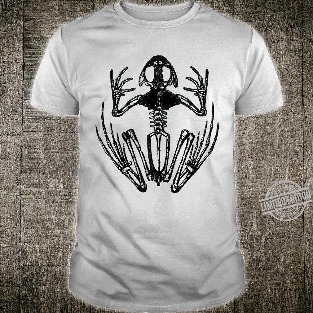 Frog Tee, Amphibian Frog Skeleton Tee, Black Frog Shirt