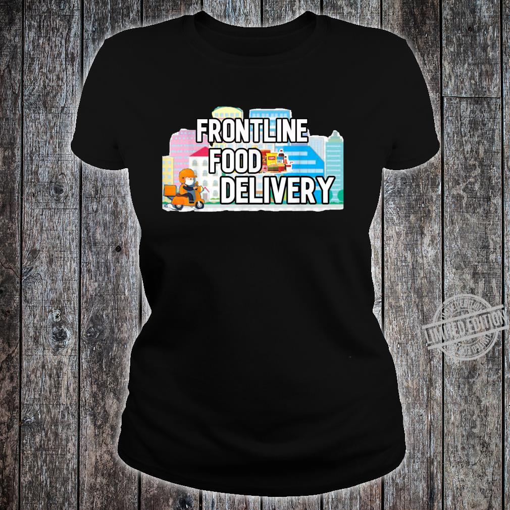 Frontline Food Delivery Courier Shirt ladies tee