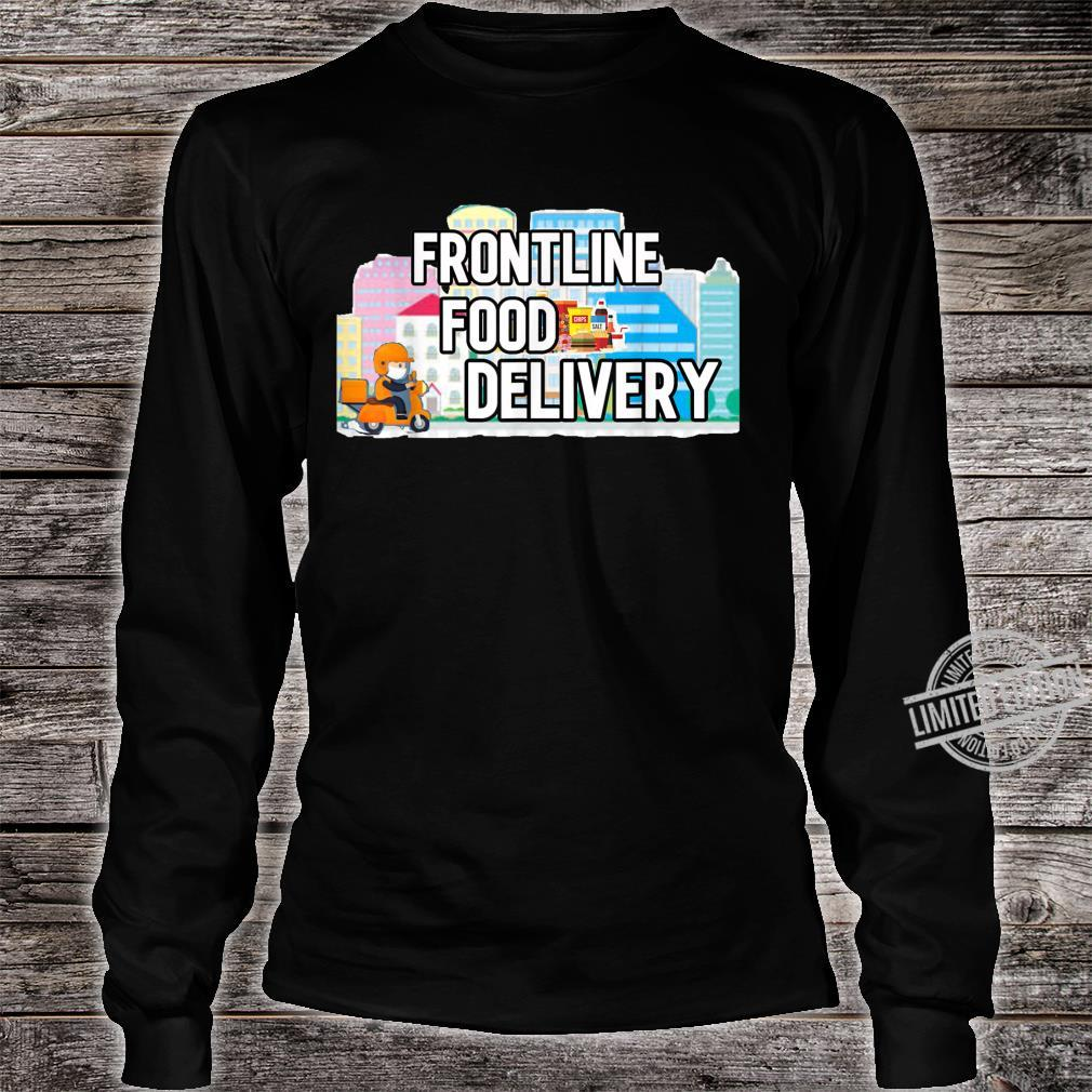 Frontline Food Delivery Courier Shirt long sleeved