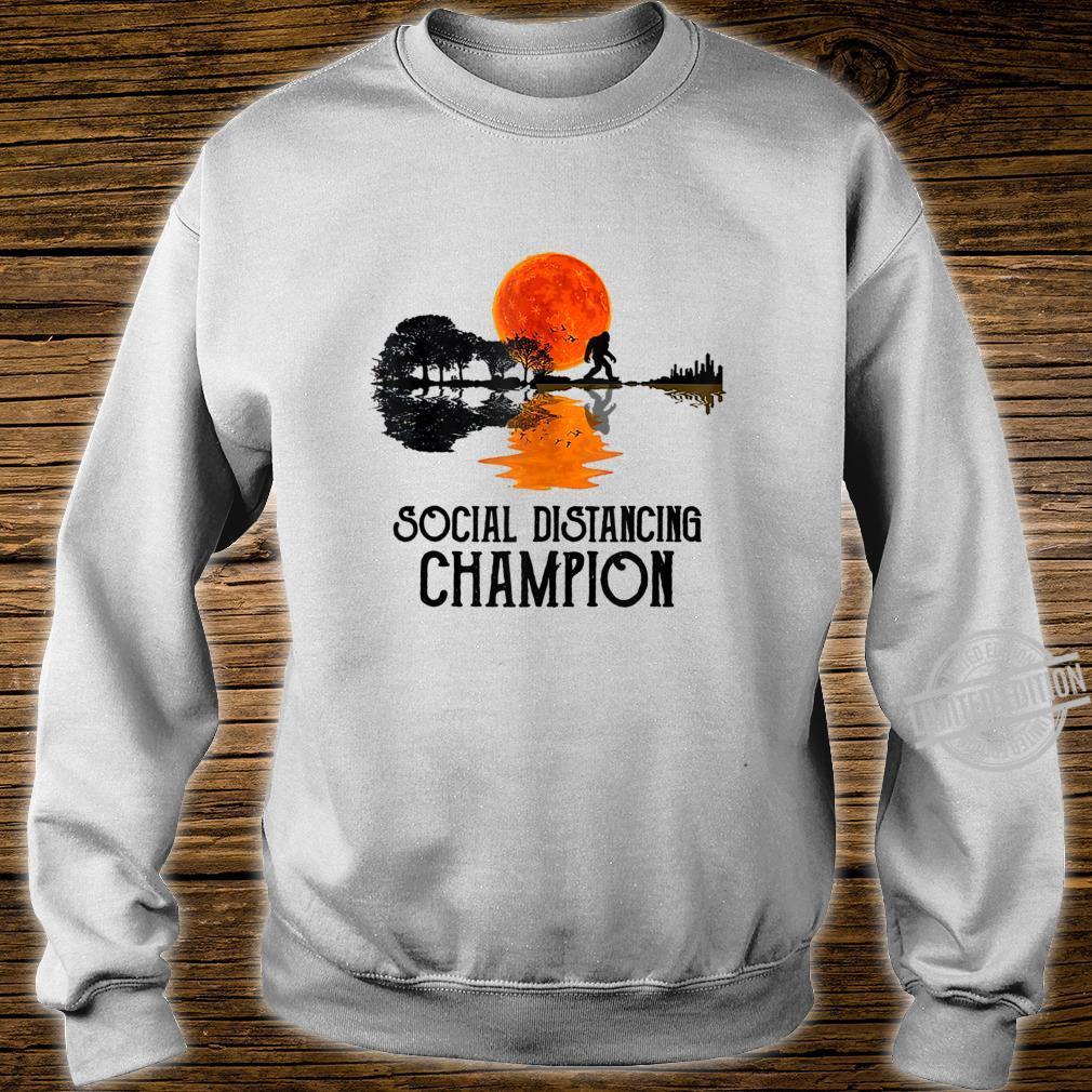 Funny Bigfoot Social Distancing Champion Antisocial Shirt sweater