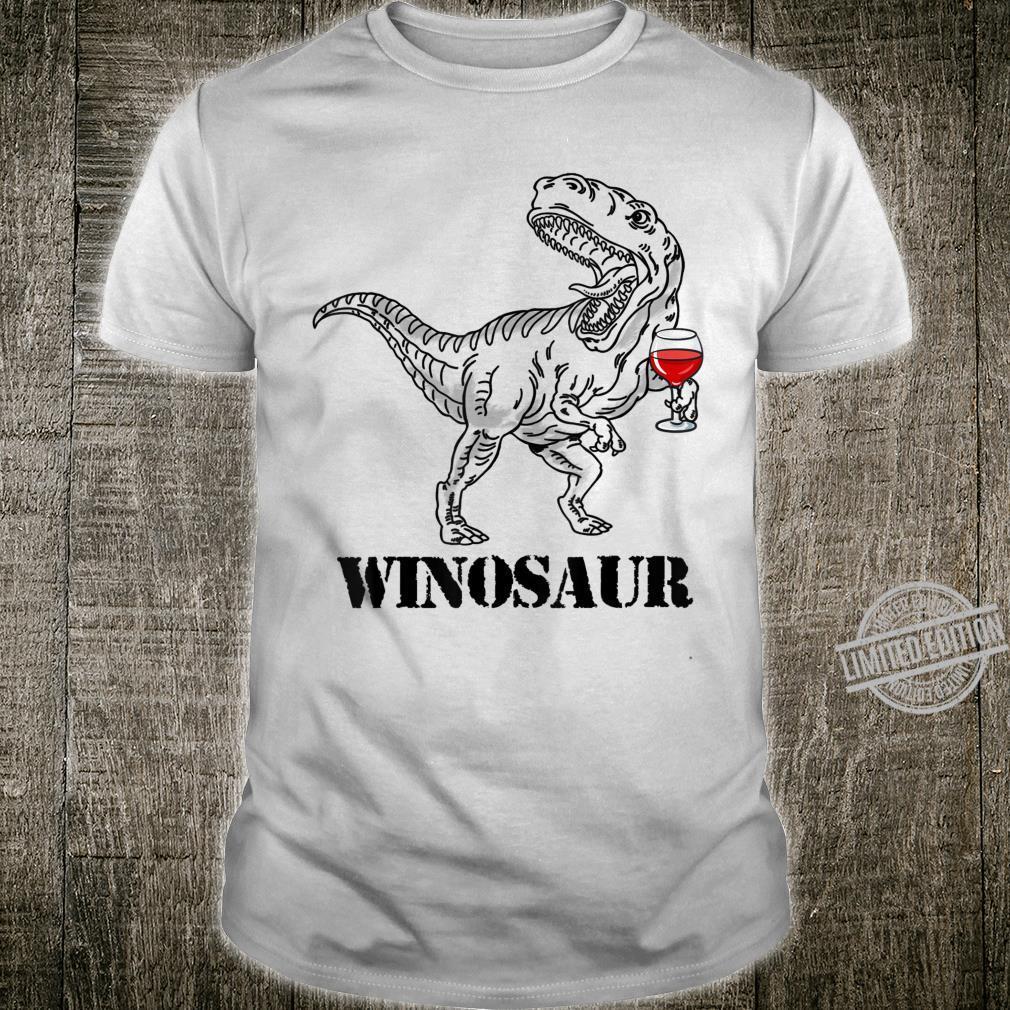 Funny Drinking Wine Dinosaur Winosaur Shirt