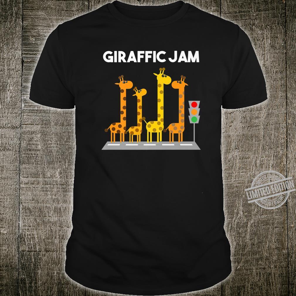 Funny Giraffic Jam Boys Girls Cool Giraffe Shirt
