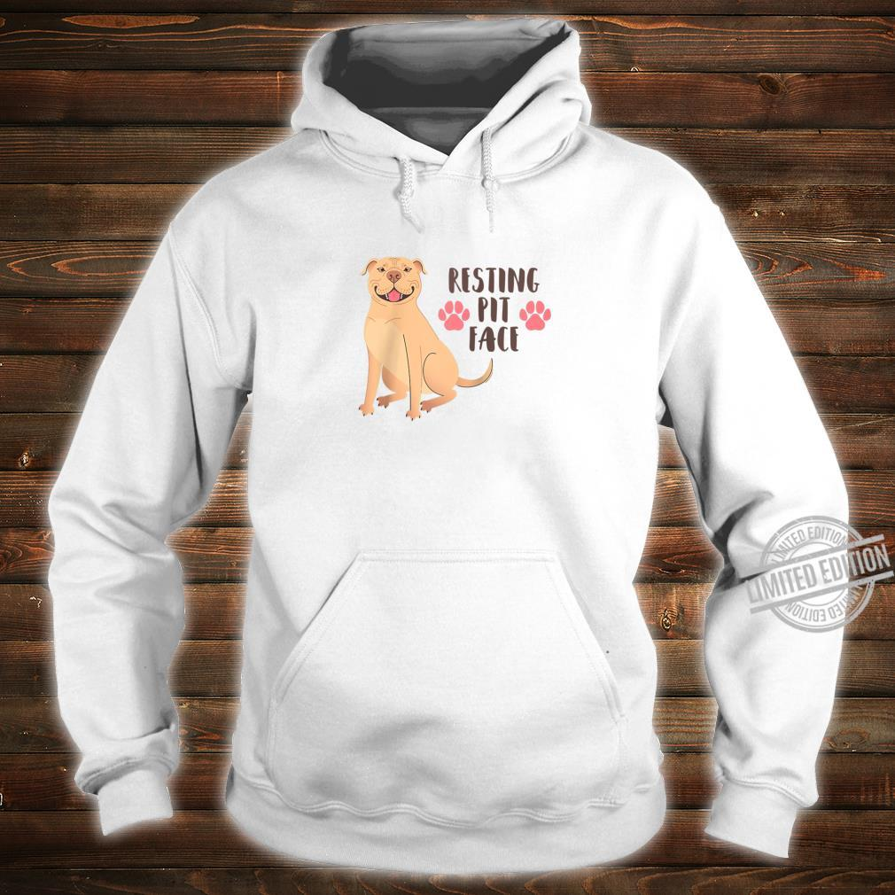 Funny Pitbull Resting Pit Face Shirt hoodie