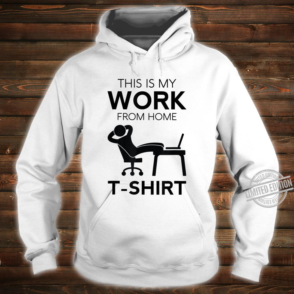 Funny Work From Home Telecommuter Entrepreneur Paid In PJs Shirt hoodie