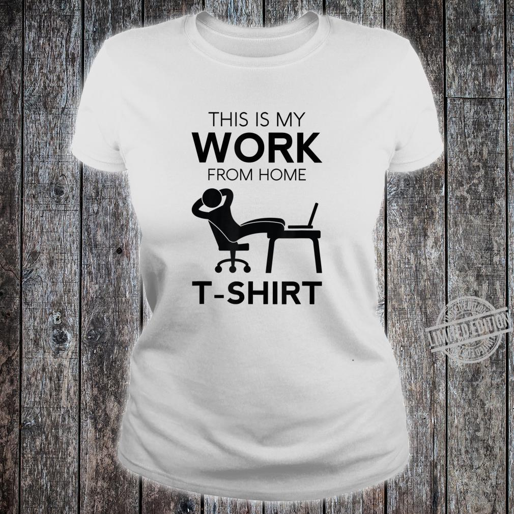 Funny Work From Home Telecommuter Entrepreneur Paid In PJs Shirt ladies tee