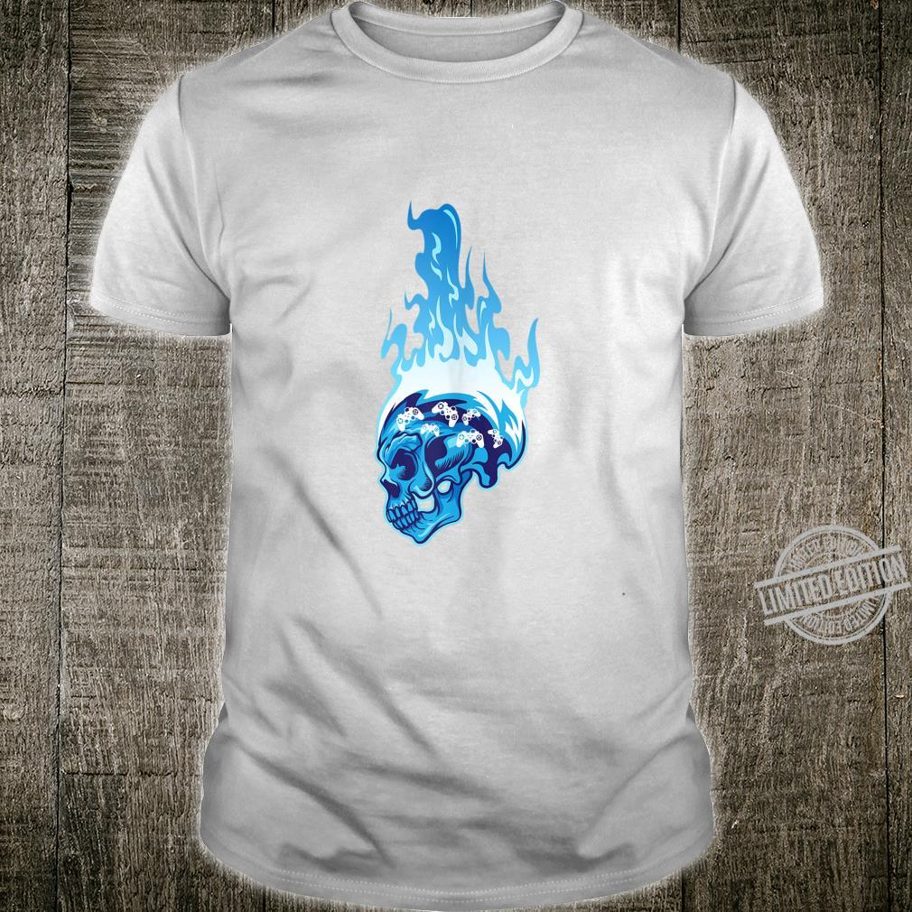 Game Console Controller Video Gaming Gamer Skull Shirt
