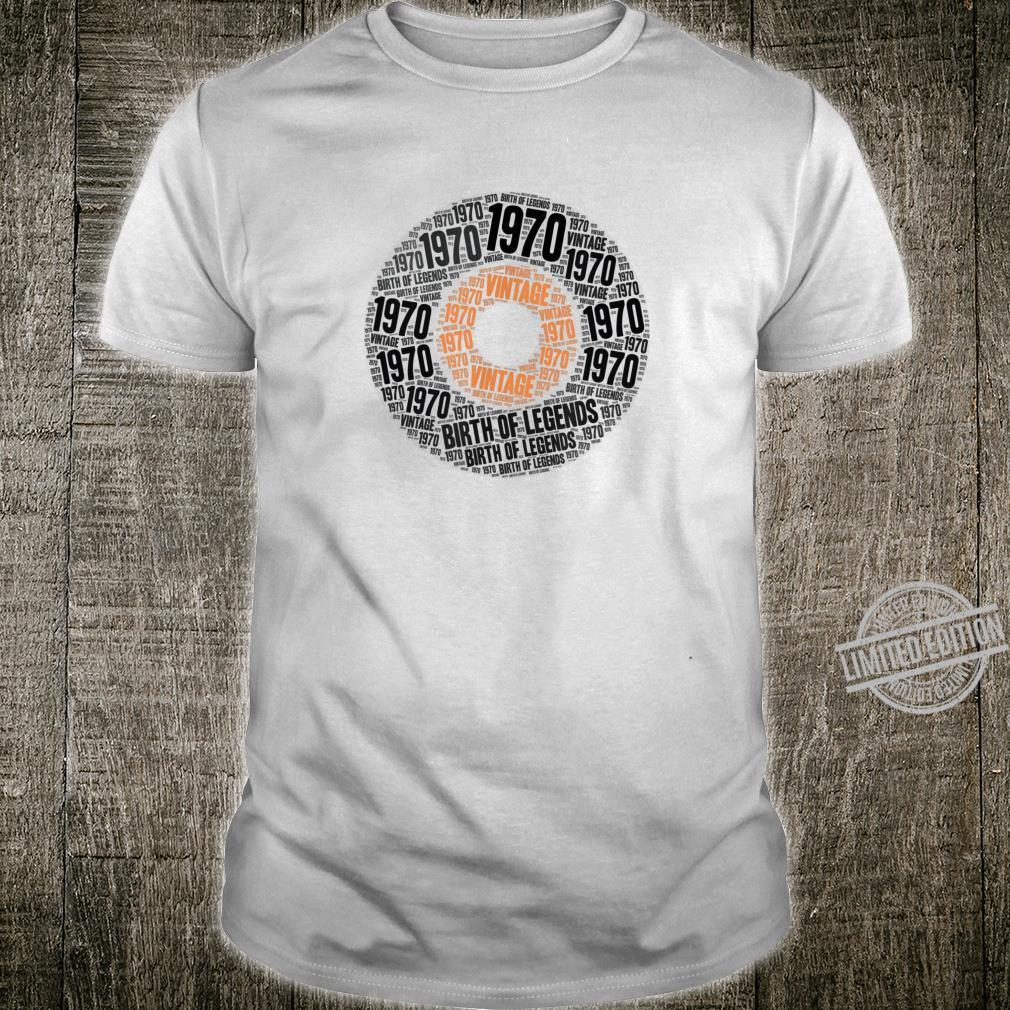 Geschenk zum 50 Geburtstag Legende Geboren 1970 Shirt