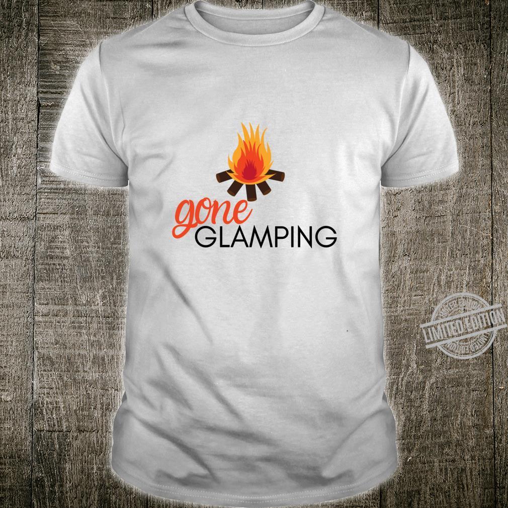 Gone Glamping Camping Sayings Cute Glamper for Camp Girl Shirt
