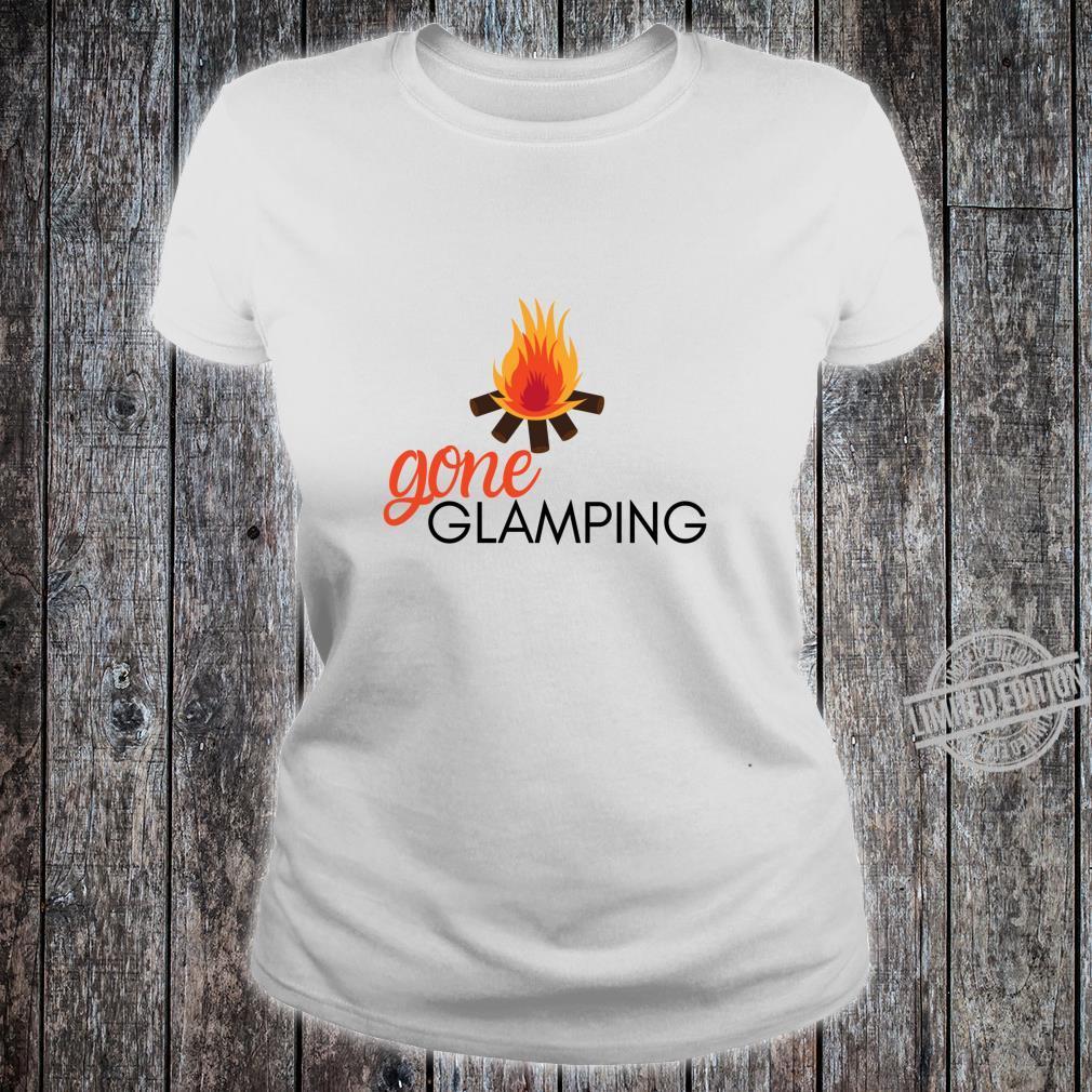 Gone Glamping Camping Sayings Cute Glamper for Camp Girl Shirt ladies tee