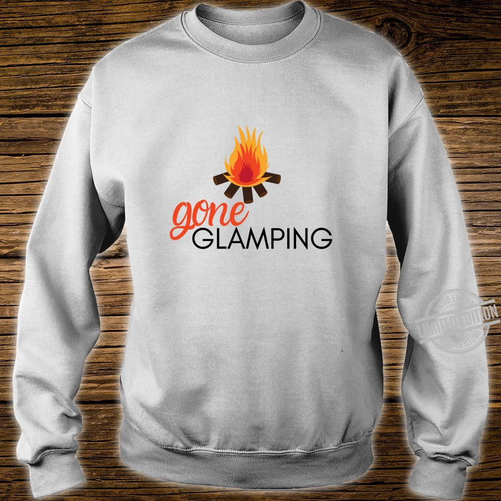 Gone Glamping Camping Sayings Cute Glamper for Camp Girl Shirt sweater