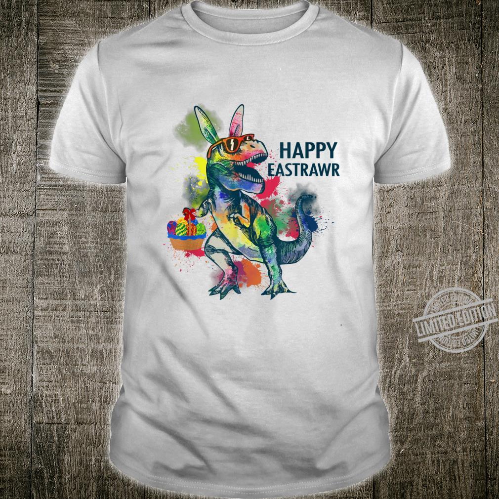 Happy Eastrawr T Rex Dinosaur Bunny Easter Day Shirt