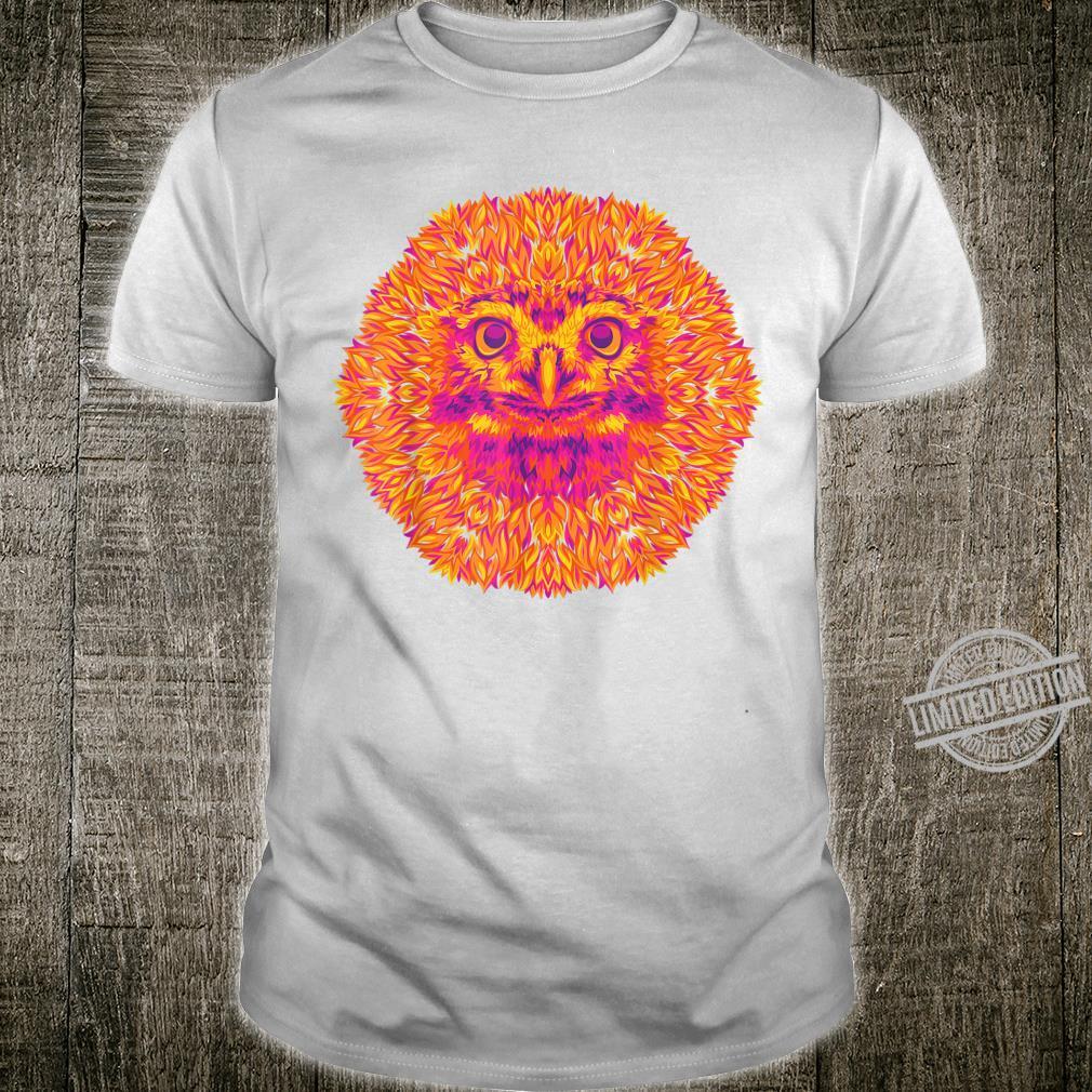Hot Owl Fire Feathers Bird and Animal Art Shirt