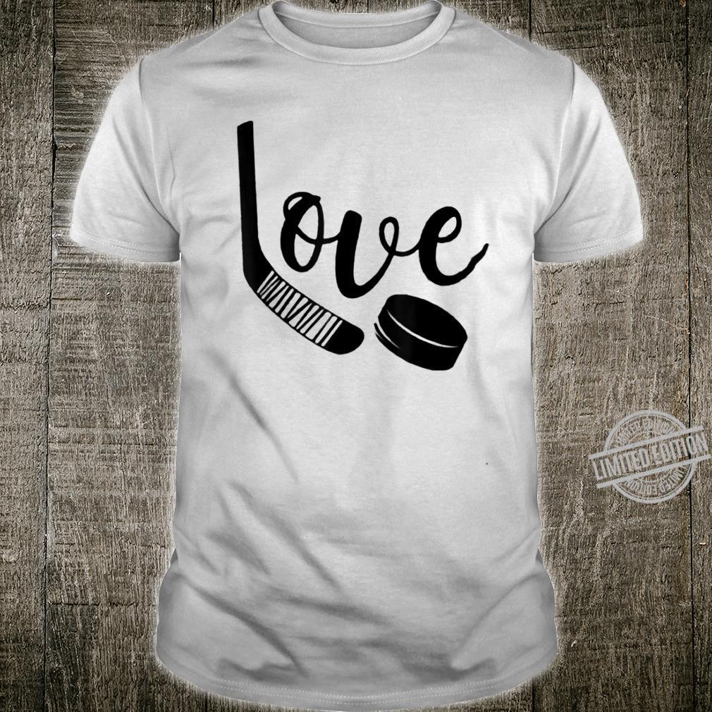 Ice Hockey Valentines Day Love Cute Boys Girls Goalie Shirt