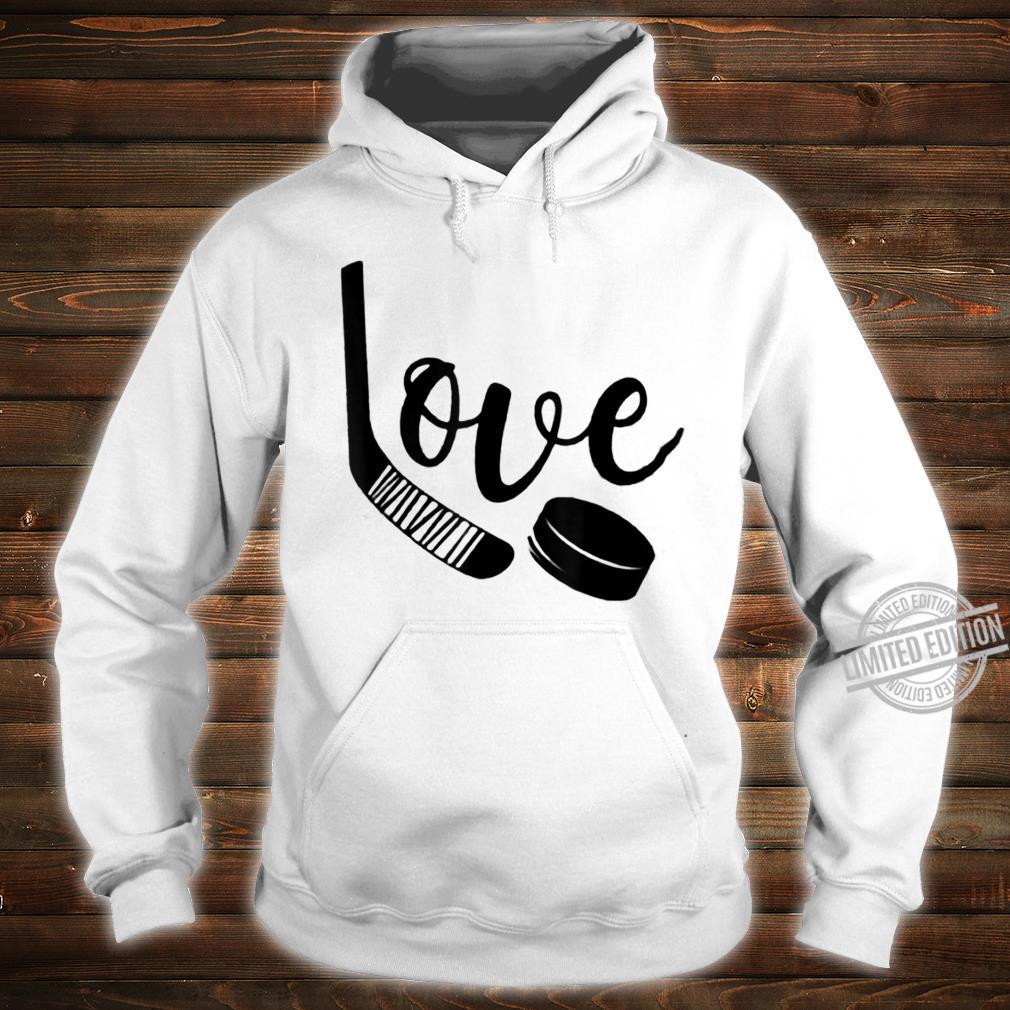 Ice Hockey Valentines Day Love Cute Boys Girls Goalie Shirt hoodie