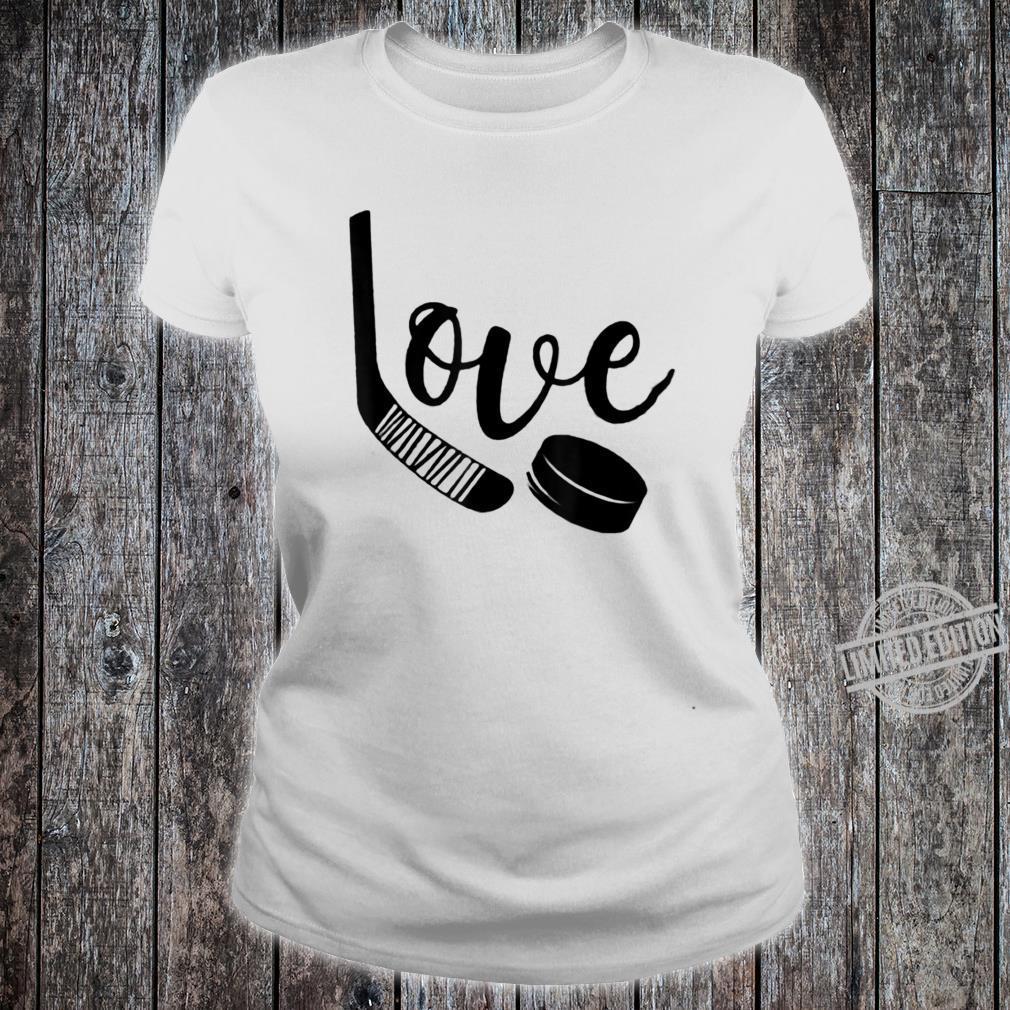 Ice Hockey Valentines Day Love Cute Boys Girls Goalie Shirt ladies tee