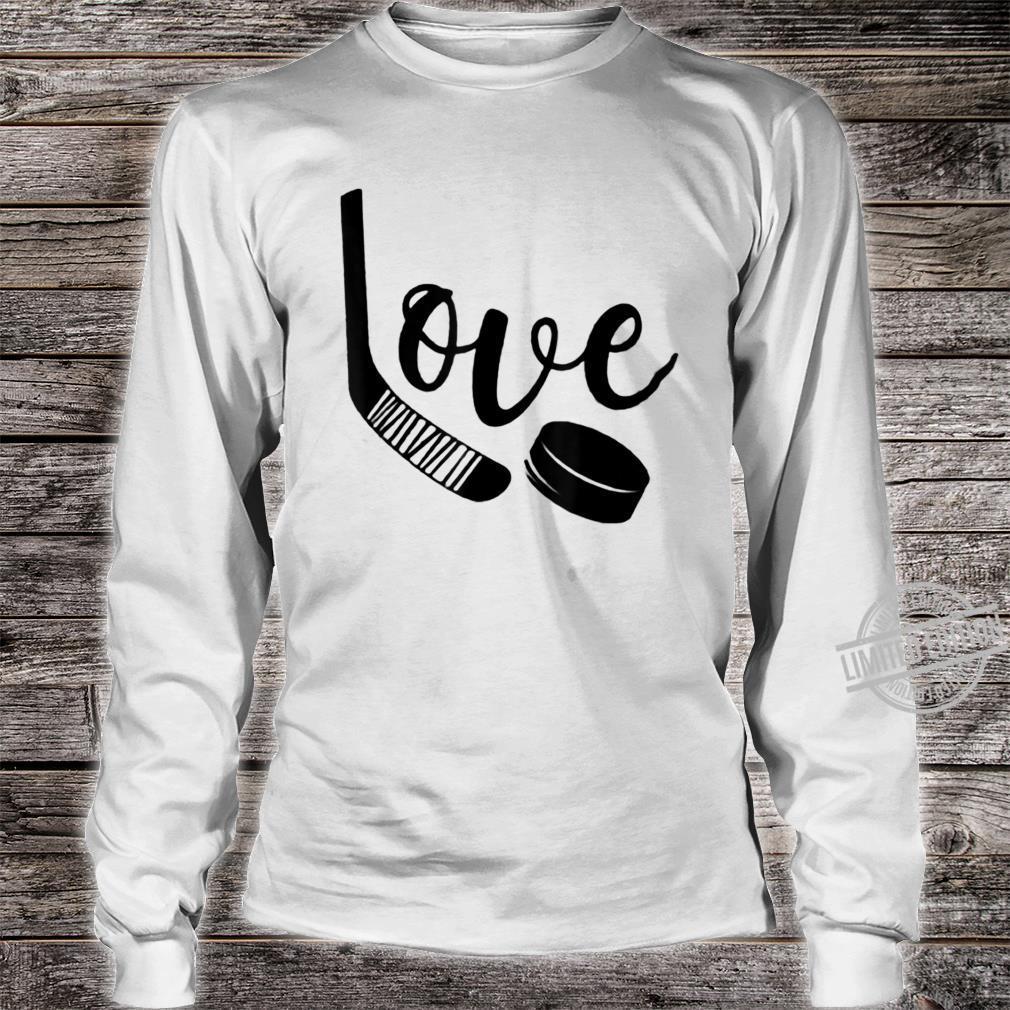 Ice Hockey Valentines Day Love Cute Boys Girls Goalie Shirt long sleeved