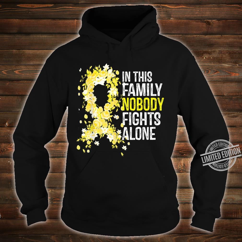 In This Family Nobody Fights Alone Yellow Ribbon Cute Shirt hoodie