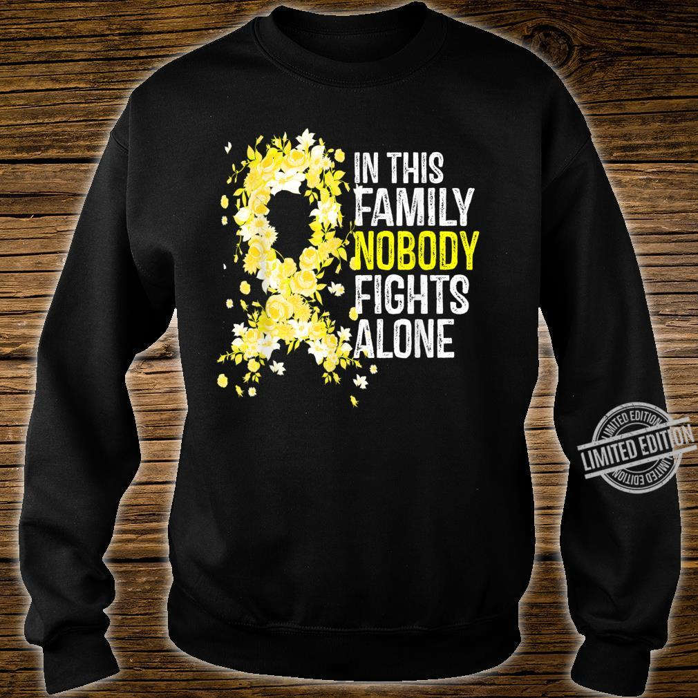 In This Family Nobody Fights Alone Yellow Ribbon Cute Shirt sweater