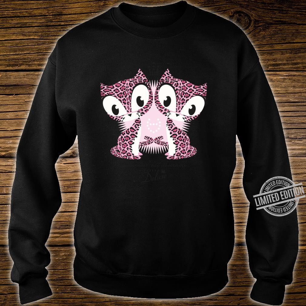 Inessential but Desirable Leopard Cats Pink Shirt sweater