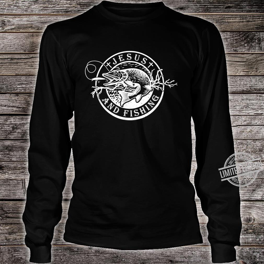 Jesus and Fishing Cute Christian Fisherman Shirt long sleeved