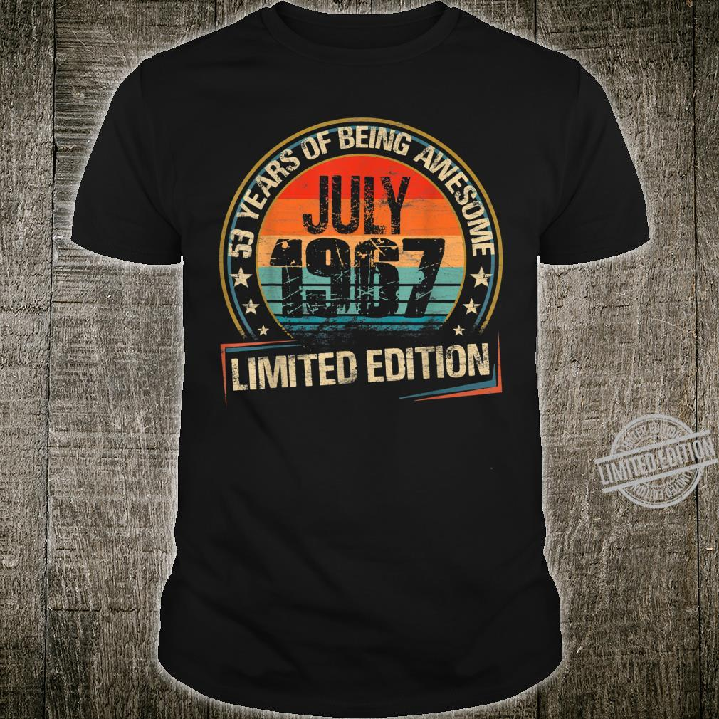 July 1967 Limited Edition 53th Birthday 53 Years Old Shirt