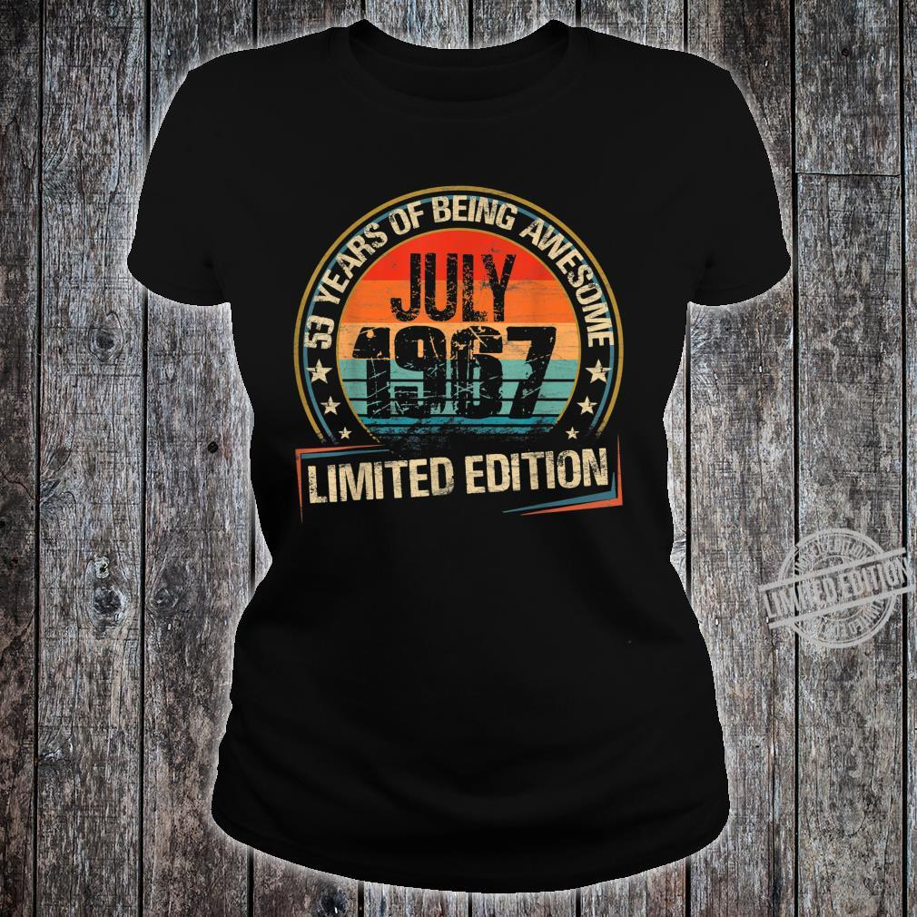 July 1967 Limited Edition 53th Birthday 53 Years Old Shirt ladies tee