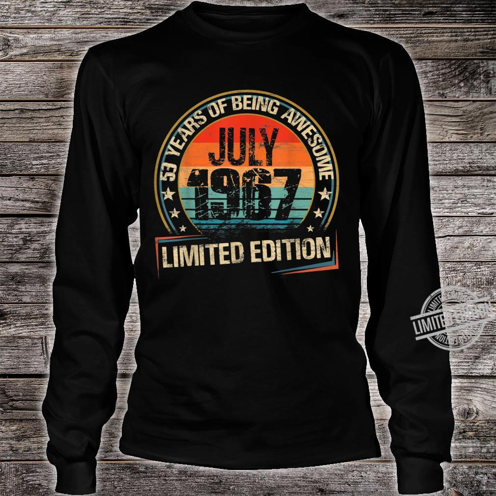 July 1967 Limited Edition 53th Birthday 53 Years Old Shirt long sleeved