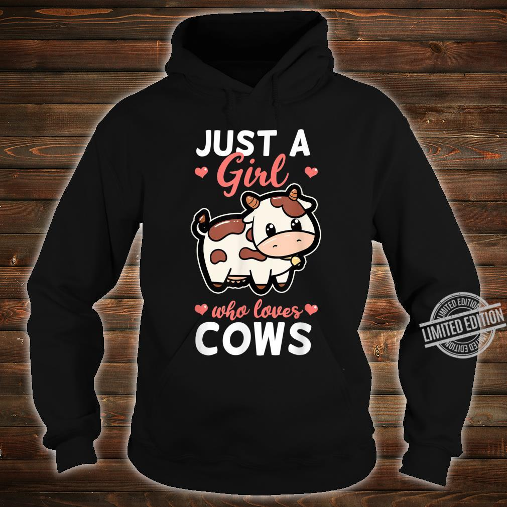 Just A Girl Who Loves Cows Cattle Farm Cowbell Idea Shirt hoodie