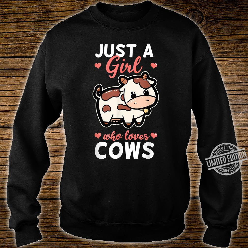 Just A Girl Who Loves Cows Cattle Farm Cowbell Idea Shirt sweater