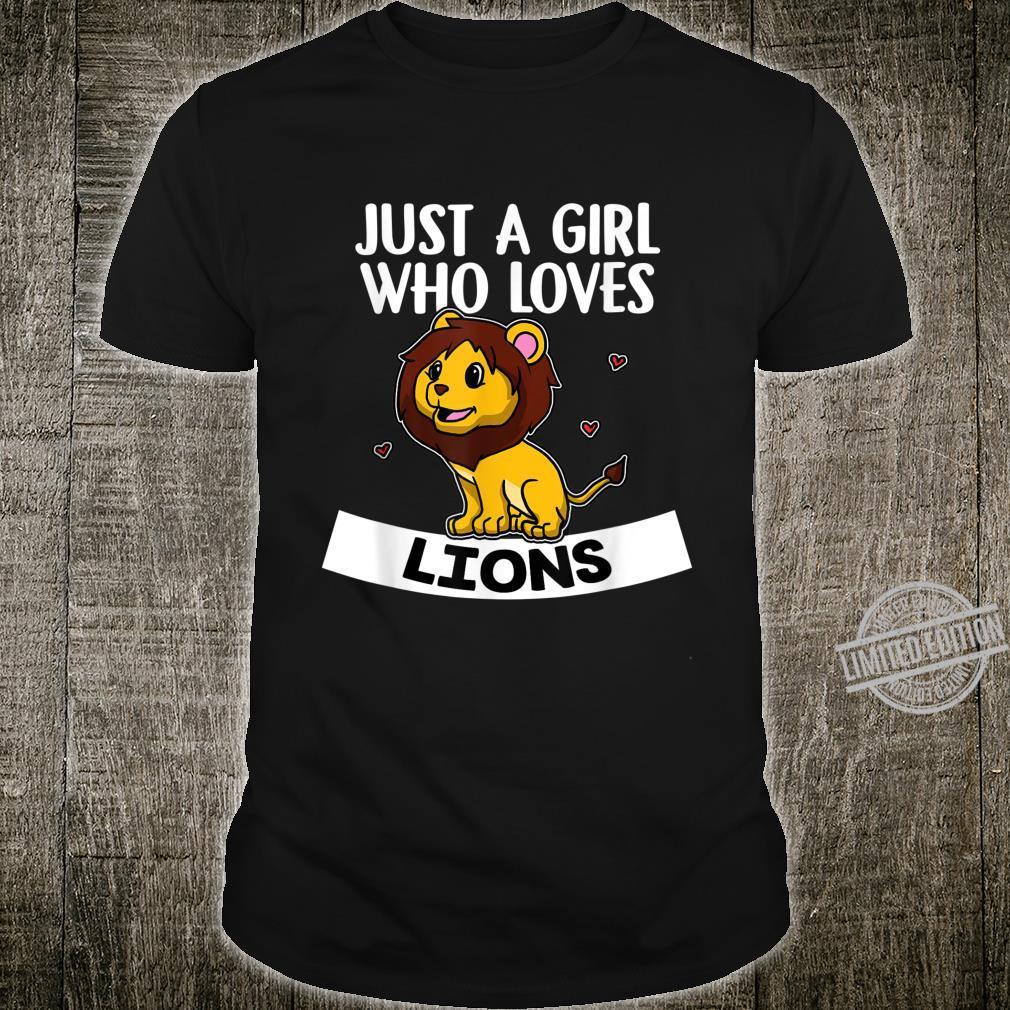 Just A Girl Who Loves Lions Lustiges Löwen Löwe Kostüm Shirt