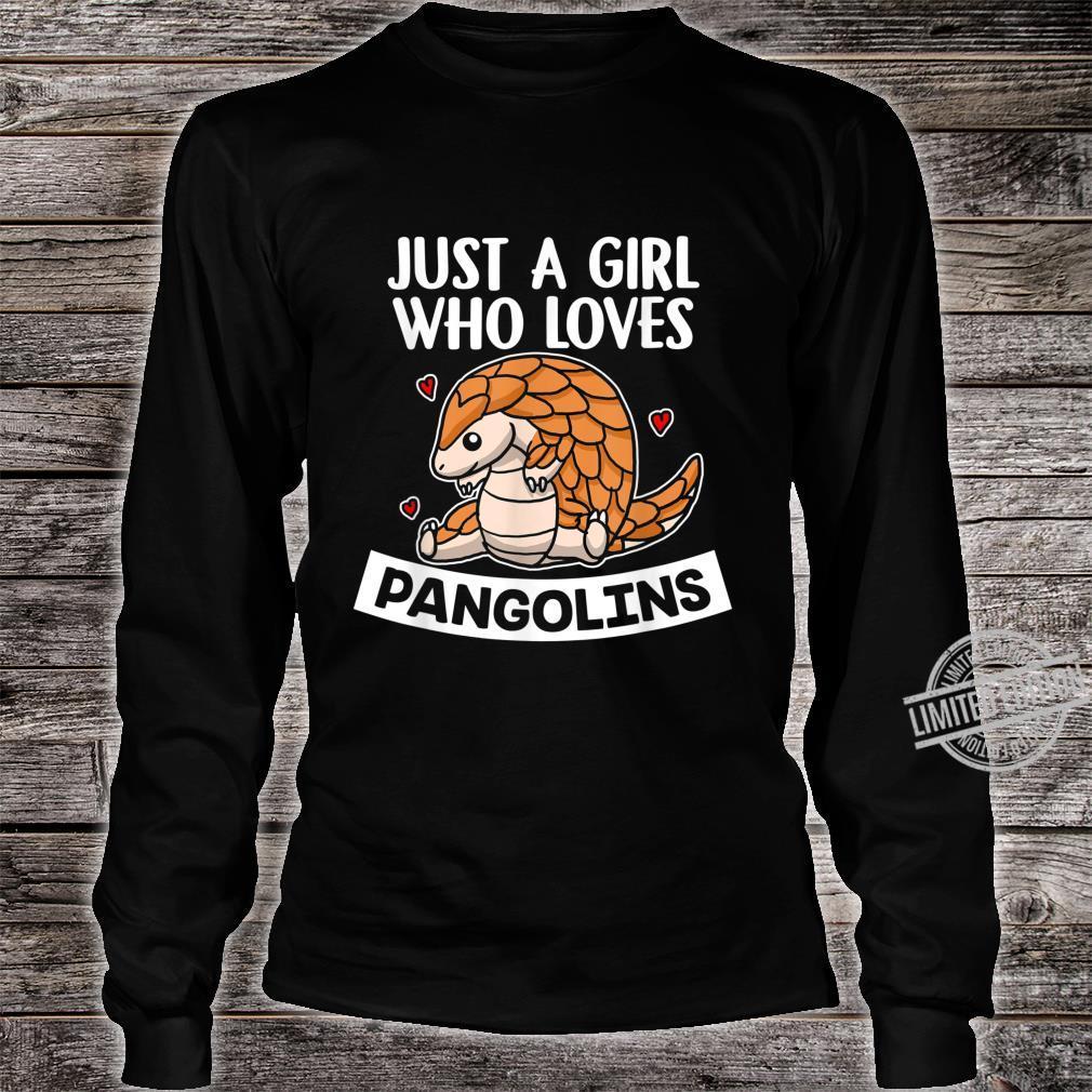 Just A Girl Who Loves Pangolins Lustiges Schuppentier Kostüm Shirt long sleeved