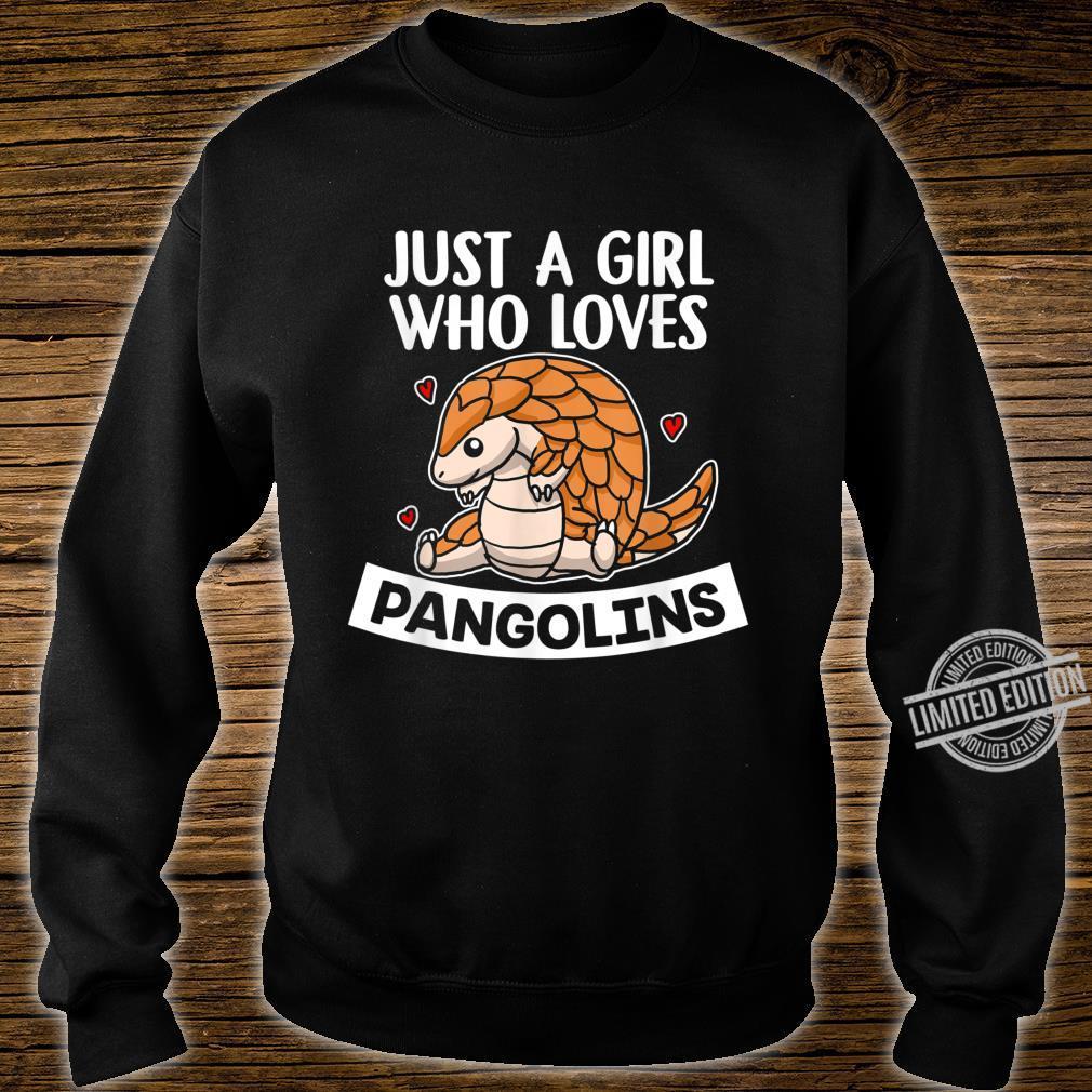 Just A Girl Who Loves Pangolins Lustiges Schuppentier Kostüm Shirt sweater