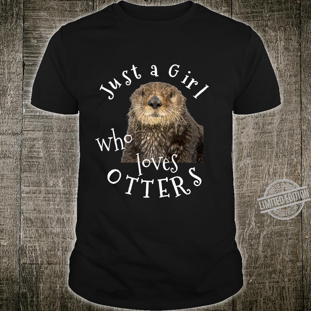 Just a Girl Who Loves Otters Geschenke für Frauen Mädchen Langarmshirt Shirt