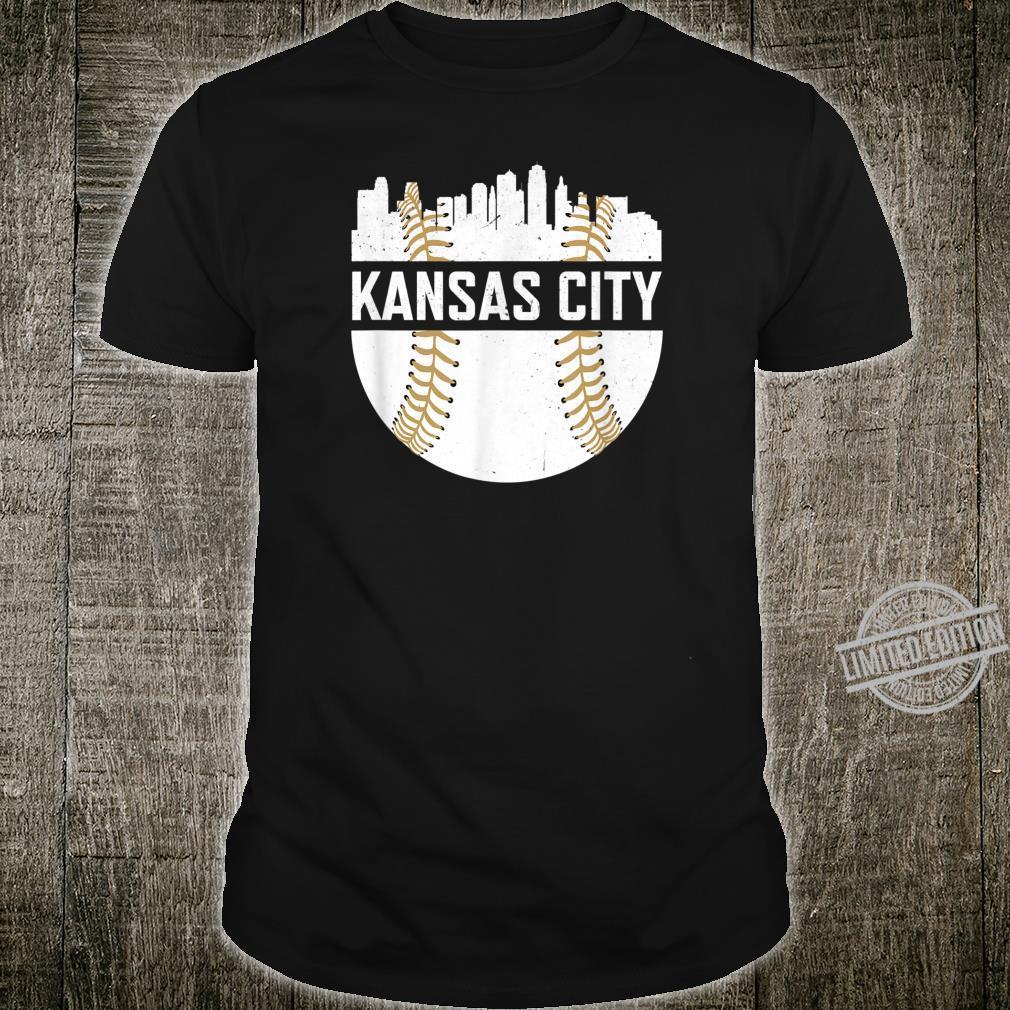 Kansas City Baseball Skyline Missouri KC Royal Blue Shirt