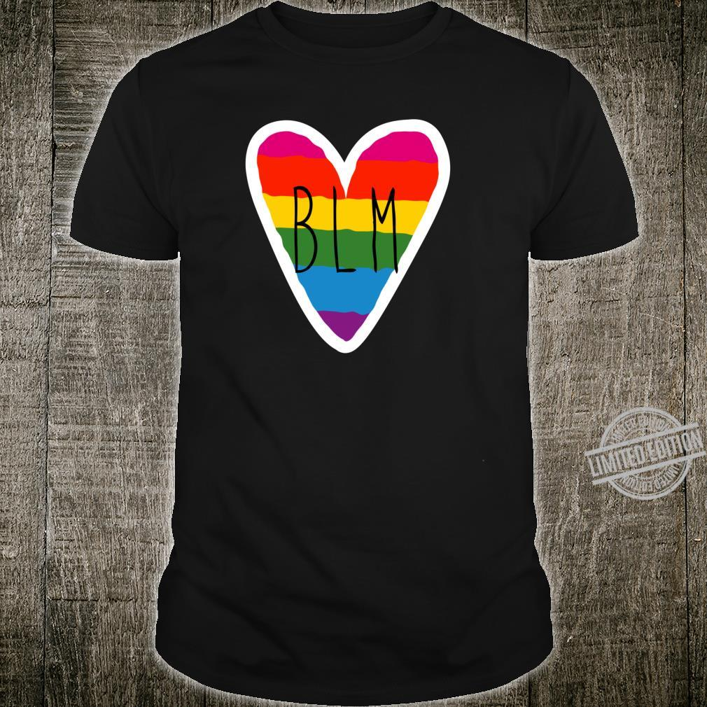 Kids BLM Black Lives Matter Protest Slogan Racism Rainbow Shirt