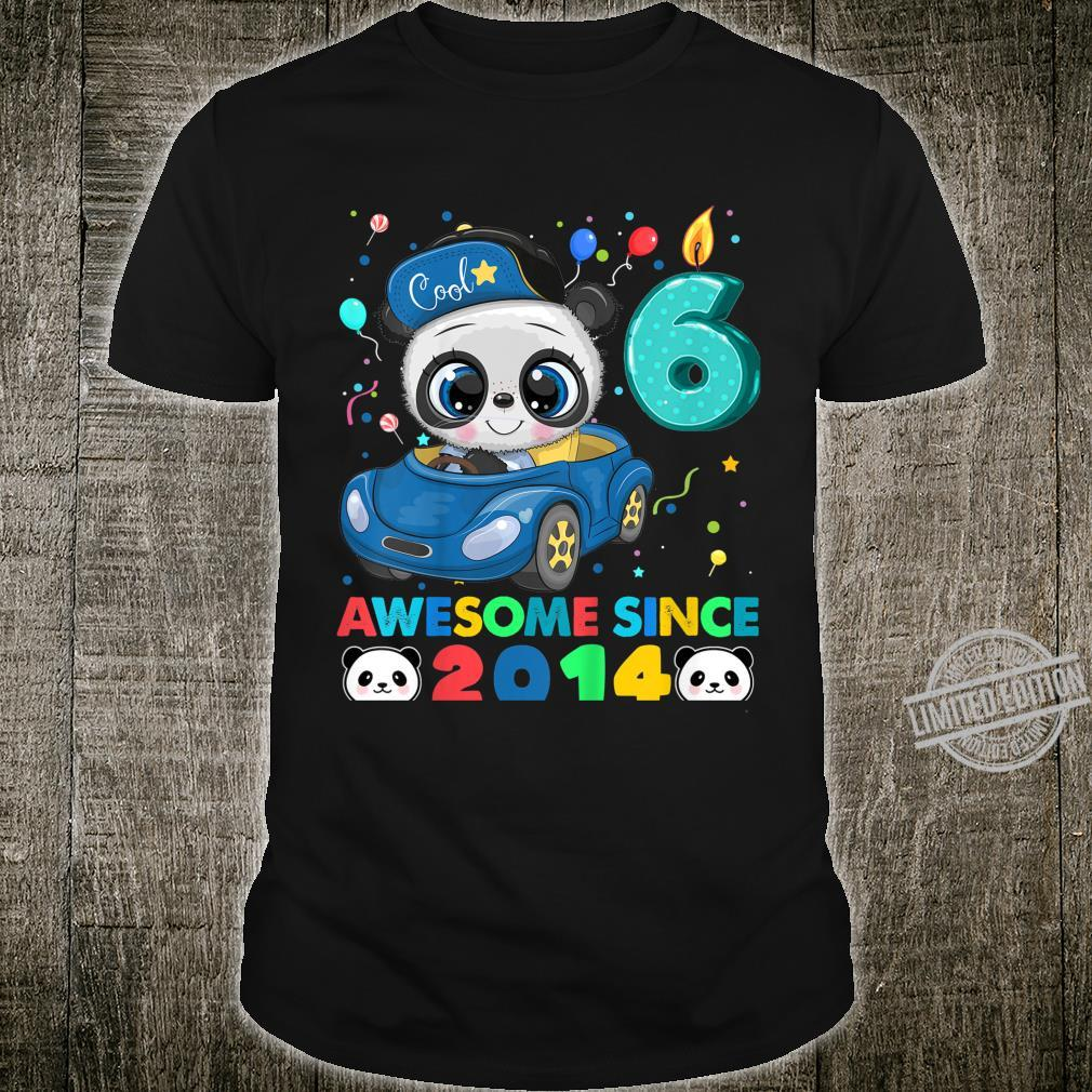 Kids Birthday Panda Born In 2014 6 Years Old Shirt